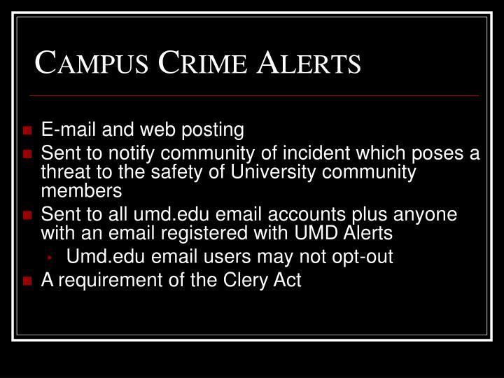 Campus Crime Alerts