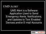 umd alert