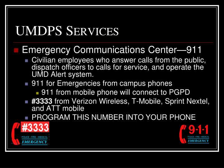 UMDPS Services