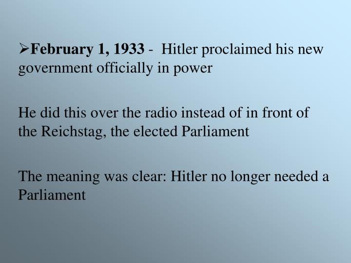 February 1, 1933