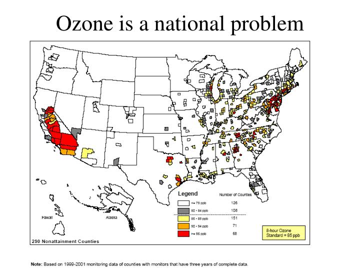 Ozone is a national problem