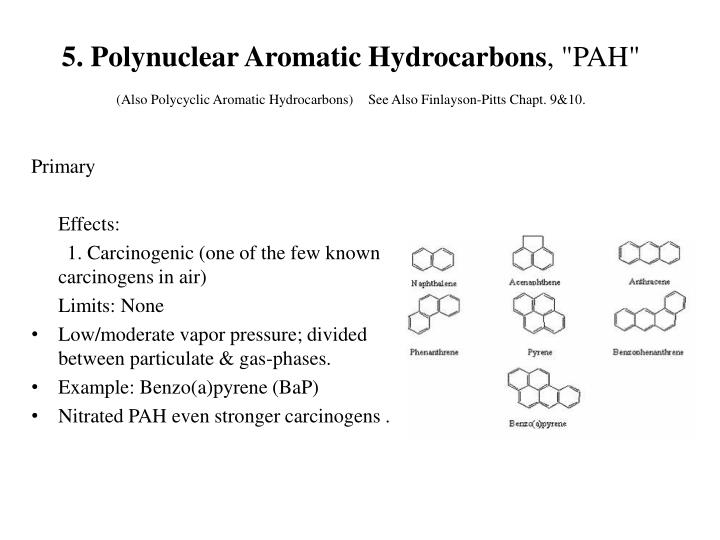 5. Polynuclear Aromatic Hydrocarbons