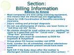 section billing information1