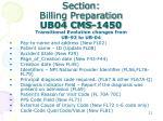 section billing preparation ub04 cms 14501
