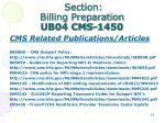 section billing preparation ub04 cms 14503