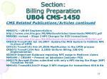 section billing preparation ub04 cms 14504