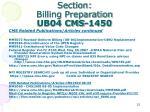section billing preparation ub04 cms 14505
