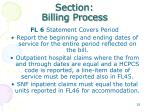 section billing process
