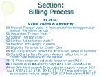 section billing process11