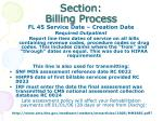 section billing process14
