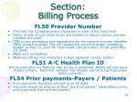 section billing process18
