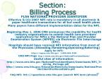 section billing process19