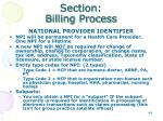 section billing process20