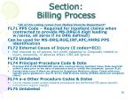section billing process27