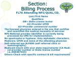 section billing process28