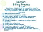 section billing process6