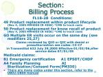 section billing process7