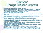 section charge master process
