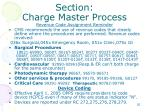 section charge master process2