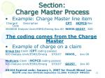 section charge master process3