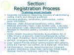section registration process1