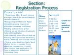 section registration process3