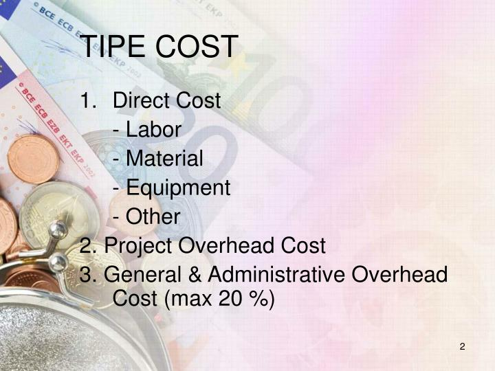 TIPE COST