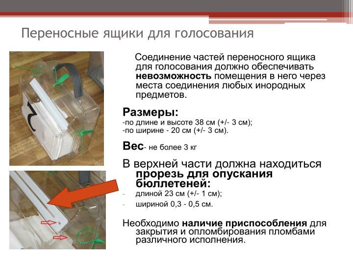 Переносные ящики для голосования