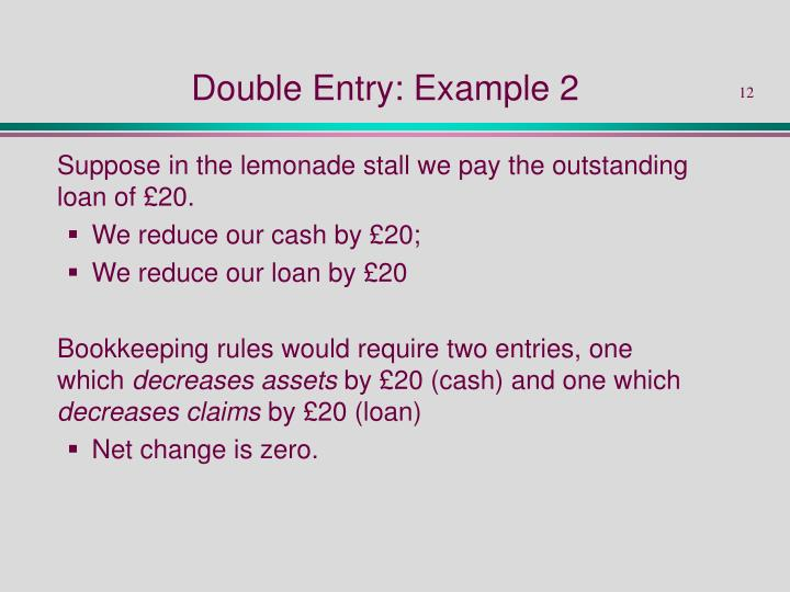 Double Entry: Example 2