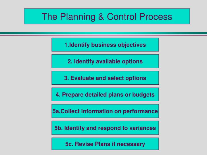 The Planning & Control Process