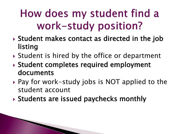 How does my student find a work-study position?