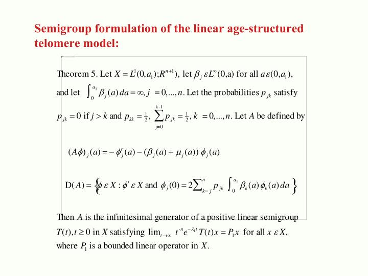 Semigroup formulation of the linear age-structured