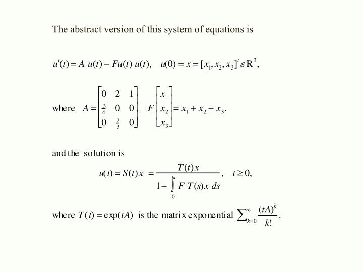 The abstract version of this system of equations is