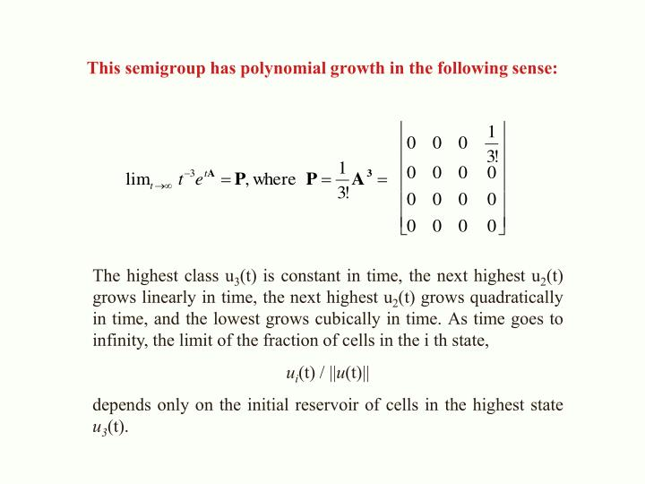 This semigroup has polynomial growth in the following sense: