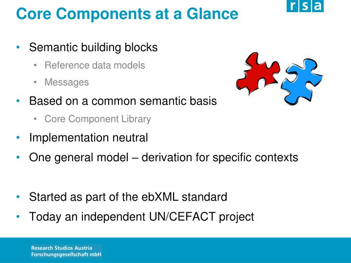 Core Components at a Glance