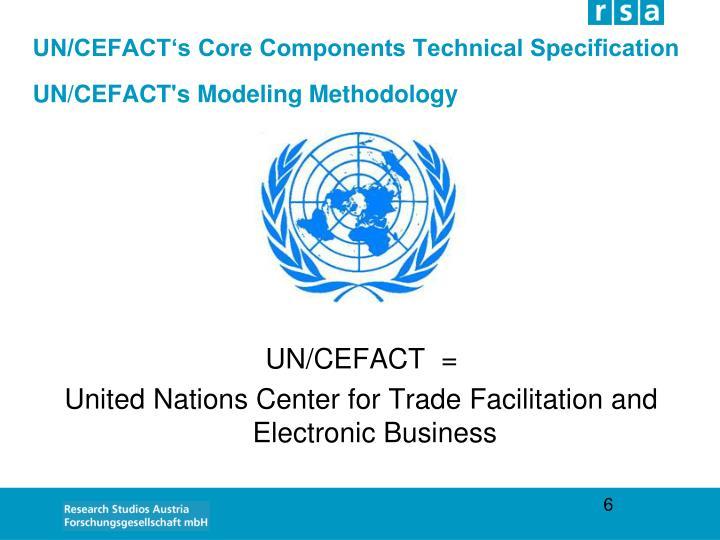 UN/CEFACT's Core Components Technical Specification