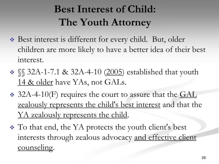Best Interest of Child: