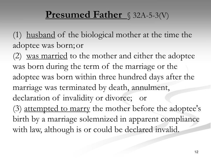 Presumed Father