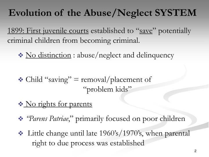 Evolution of the Abuse/Neglect SYSTEM