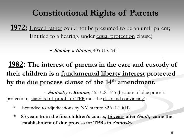 Constitutional Rights of Parents