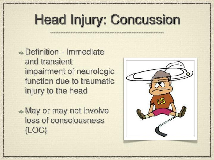 Head Injury: Concussion