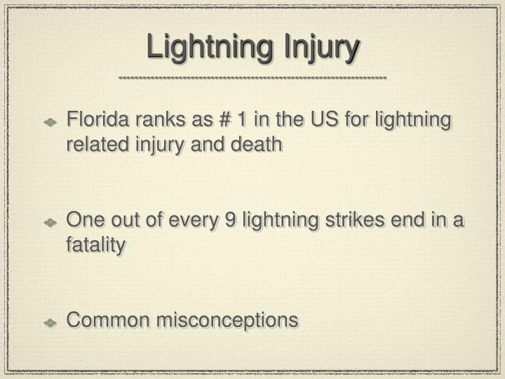 Lightning Injury
