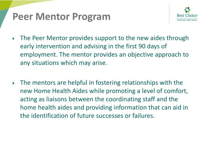 Peer Mentor Program