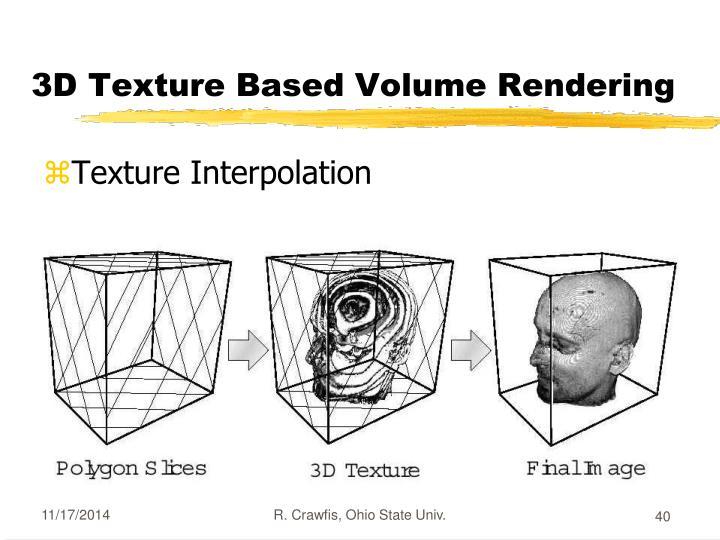 3D Texture Based Volume Rendering