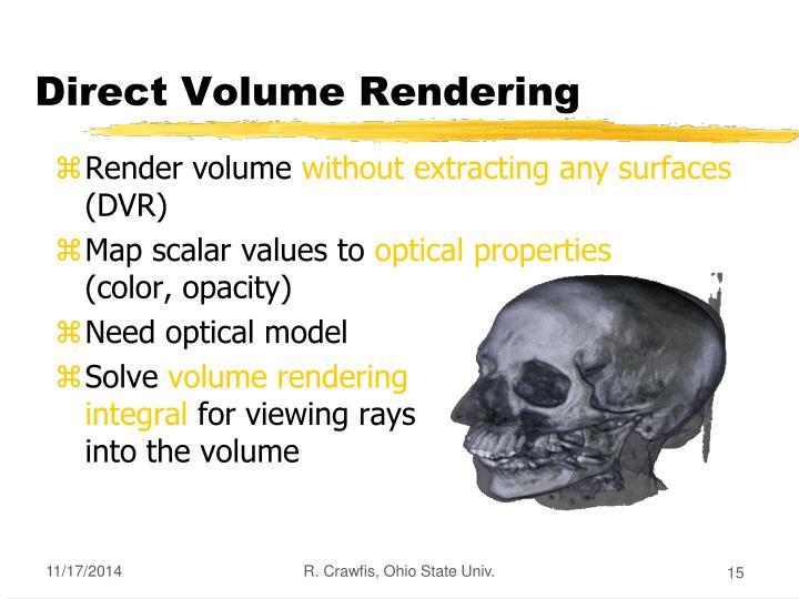 Direct Volume Rendering