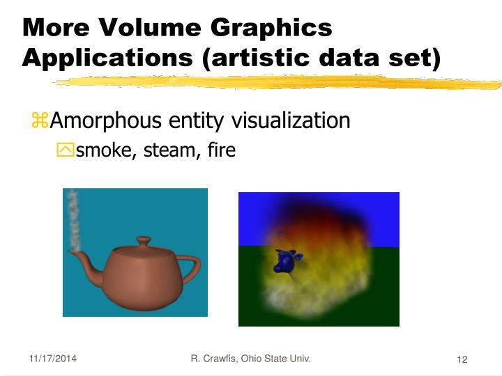 More Volume Graphics Applications (artistic data set)