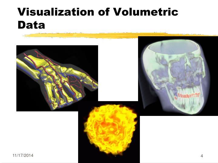 Visualization of Volumetric Data
