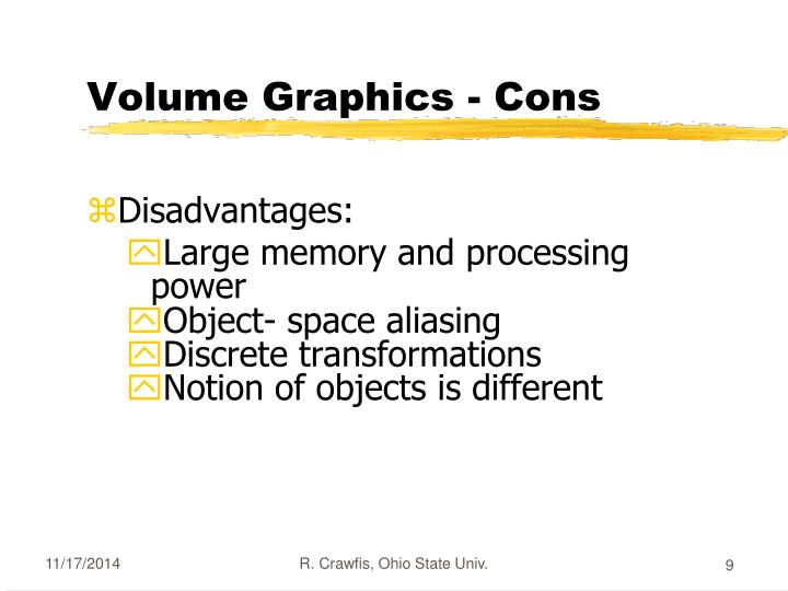 Volume Graphics - Cons