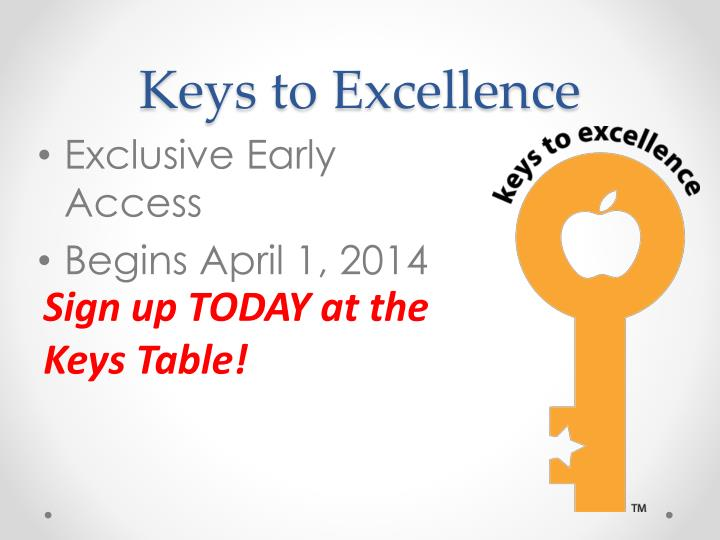 Keys to Excellence