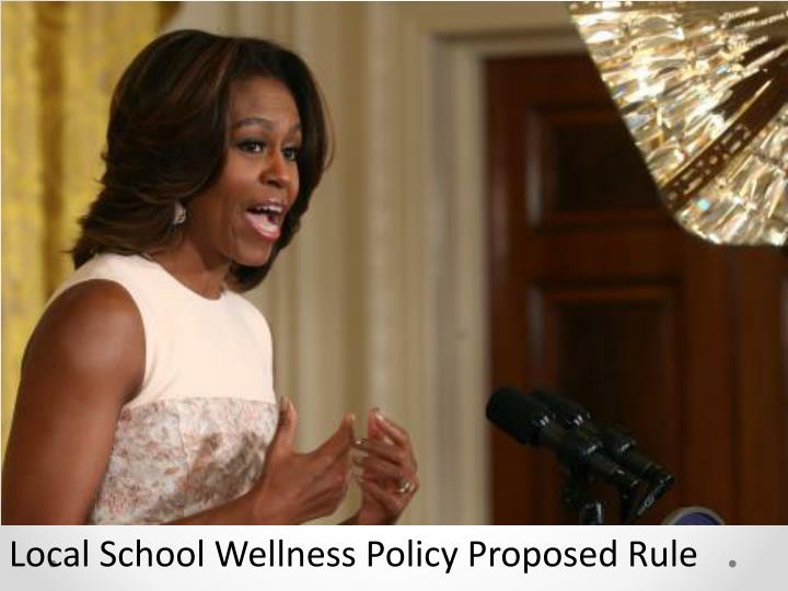 Local School Wellness Policy Proposed Rule